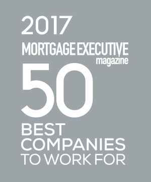 2017 Mortgage Executive 50 Best Companies to Work for